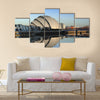 Glasgow's Armadillo in winter sunshine reflected off River Clyde, Multi Panel Canvas Wall Art
