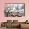 People meet sunset after storm, Havana, Cuba multi panel canvas wall art
