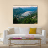 Bay of Kotor with birds-eye view. The town of Kotor, Muo, Prcanj, Tivat. View of the mountains, sea, clouds Multi panel canvas wall art