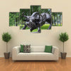 KHABAROVSK, RUSSIA, Zodiac sign Taurus in the Park at the Amur Boulevard, Multi Panel Canvas Wall Art