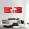 Flag of Hong Kong  Panoramic Canvas Wall Art