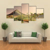 The Breathtaking Beauty And The Sunrise On The Sahara Desert in Libya, Multi Panel Canvas Wall Art