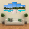 The Beauty Of The Beach Located In The Maldives, Multi Panel Canvas Wall Art