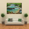 The Beauty Of The Kuang Si Waterfall, Luang Prabang, Laos Multi Panel Canvas Wall Art