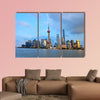 Shanghai world financial center skyscrapers multi panel canvas wall art