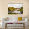 Bridge over the moat, in the old town in Fredrikstad, Norway multi panel canvas wall art