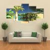 Lavish Spectacular Plants On Wasteland Later In The Day In The Libya, Multi Panel Canvas Wall Art