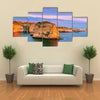 The Pigeons Rock, A Sunset Beauty In Beirut, Lebanon, Multi Panel Canvas Wall Art