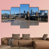 Boat in the Thames River Multi panel canvas wall art