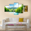 waterfall in deep forest of Croatia Multi Panel Canvas Wall Art