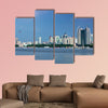 The landscape scenery view of a city at the Songhua River, India multi panel canvas wall art