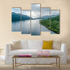 The aerial view of the bonnie banks of Loch Lomond Scotland multi panel canvas wall art