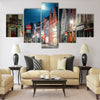 Street of Brugge, Belgium Multi panel canvas wall art