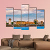 View at the city skyline central, Dusselfdorf Germany multi panel canvas wall art