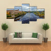 Russian middle ages fortress Ivangorod near Saint-Petersburg multi panel canvas wall art