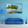 Beautiful landscape of tree growing over ocean at beach of Bijagos island Bubaque, Guinea Bissau, West Africa Multi panel canvas wall art