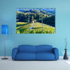 Famous Heart shaped wine road in Slovenia, a vineyard near Maribor multi panel canvas wall art