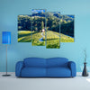 A famous Heart shaped wine road in Slovenia, vineyard near Maribor multi panel canvas wall art