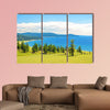 The Lake Hovsgol, north-eastern coast on a sunny summer day, Mongolia multi panel canvas wall art