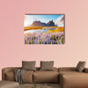 Majestic lupine flowers glowing by sunlight multi panel canvas wall art