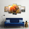 Bitcoin is a modern way of exchange and this crypto currency is a convenient means of payment multi panel canvas wall art