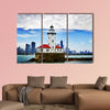 Chicago lighthouse with downtown Chicago canvas wall art