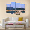 Zaovine lake on Tara mountain landscape Multi panel canvas wall art