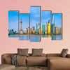 Architectural scenery of Lujiazui, Shanghai multi panel canvas wall art
