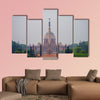 Government building of Rashtrapati Bhavan, India multi panel canvas wall art