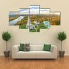 Church of the Ascension in Kolomenskoe park in autumn season (aerial view), Moscow, Russia multi panel canvas wall art