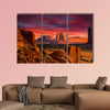 Spectacular Sunrise in Monument Valley Multi panel canvas wall art