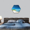 Beautiful uninhabited island at Philippines hexagonal canvas wall art