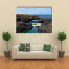 Cliffs and rocks on the Atlantic ocean coast on the island Sal in Cape Verde Multi panel canvas wall art