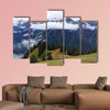 Stunning view of alpine forest, Lake Brienz, mountain range multi panel canvas wall art