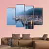 Sailboats on the embankment of river in Bremen, Germany wall art