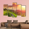 Green park mountain landscape hill nature view sunset canvas wall art