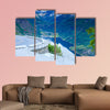Tourism vacation and travel. Beautiful view over magical viewpoint, wall art