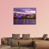 Montreal skyline and Lawrence River illuminated at dusk, wall art