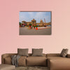 Government building of Rashtrapati Bhavan multi panel canvas wall art