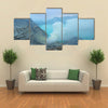 Kawah Ijen crater is the famous tourist attraction in Indonesia multi panel canvas wall art