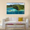 Aerial Shot of Micronesian Islands multi panel canvas wall art
