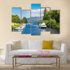 Fort Augustus and Loch Ness Lake in Scotland multi panel canvas wall art