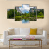 Beautiful art of Yosemite valley view Multi Panel Canvas Wall Art