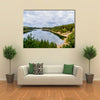 The Beauty Of The Country, Lake And River In Forest On A Hot Summer Day Multi Panel Canvas Wall Art