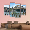 Siuslaw River Bridge from the Florence Marin, Oregon USA multi panel canvas wall art