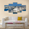 towers of Fort St Angelo from Upper Barrakka Gardens, view across the Grand Harbor, Valletta, Malta, Multi Panel Canvas Wall Art