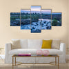 Sunrise in Sabie River in Kruger National Park, South Africa Multi panel canvas wall art