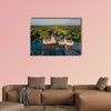 Aerial view of Anholt castle in Isselburg, Germany multi panel canvas wall art