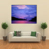 Sunset in Jungle in Gabon Multi Panel Canvas Wall Art