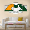 Illustration Of Hand Portraying Love With Azad Jammu & Kashmir Flag Multi Panel Canvas Wall Art